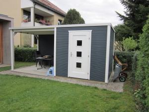 gartenhaus carport terassen. Black Bedroom Furniture Sets. Home Design Ideas